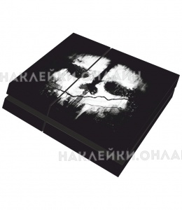 "Наклейка на PS4 ""COD Ghosts"""