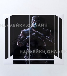 "Наклейка на PS4 ""Mortal kombat x sub zero 4"""