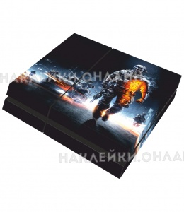 "Наклейка на sony playstation 4 ""Battlefield 3"""